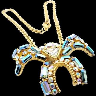 Rare Orena Paris Large Spider Pendant Necklace