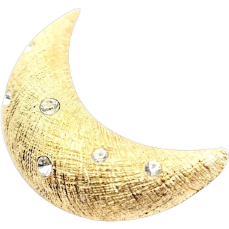 Christian Dior Half Moon Brooch