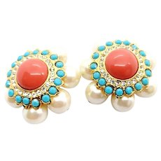 Graziano Clip On Earrings Simulated Pearls