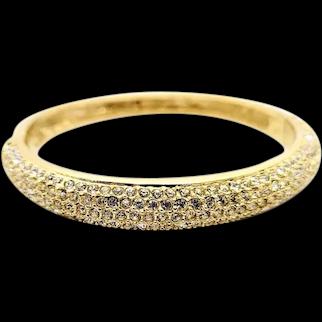 Roman Marked Rhinestone Cuff Bracelet