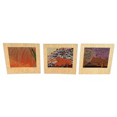Set of Serigraphs Signed by Cuco, Peruvian Artist, 34/50 Limited Edition