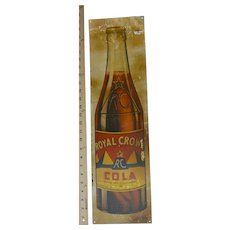 "Royal Crown Cola Tin Sign 25"" X 7"""