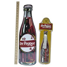 "Dr. Pepper  17"" Thermometer &  23"" Clock Sign ""10-2-4"""