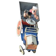 "Popeye ""Dippy Dumper"" Marx toys 1930's tin lithograph wind up"