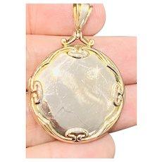 Superb Edwardian Art Noveau 9ct gold locket - Chester 1907 - 7.7gms