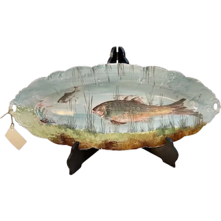 Hand Painted Fish Platter Circa: 19th Century
