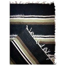 "Siirt Tiftik (Angora Goat) Wool Rug / Tarditional - Handmade / Black White Brown Green / 80x125 cm -31.5""x50"""