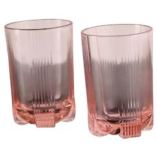 Pasabahce (Turkey) Pink Water Glass / Vintage - 1980s / Set of 2
