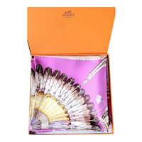 Hermes Brazil Silk Scarf Designed by Laurence Bourthoumieux