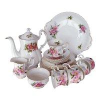 Royal Albert Prairie Rose Tea Set
