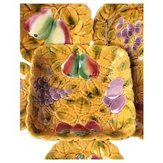 French Majolica Cabinet Plates
