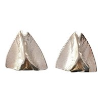 Lapponia Vintage Silver and Gold Earrings