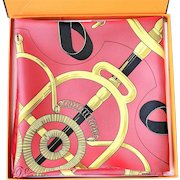Hermes Silk Scarf Eperon d'Or