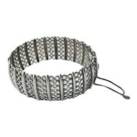 Scandinavian Vintage 830 Silver Bangle Bracelet by Arne Nordlie of Norway