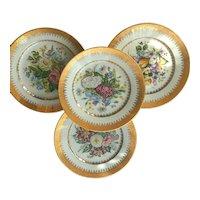 French Limoges Vintage Porcelain Cabinet Plates