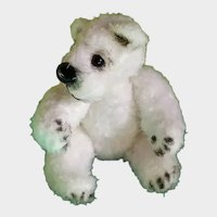 Collectible Teddy bear handmade, author's knitted doll