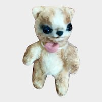 Collectible little Bear, author's knitted toy