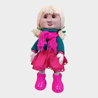 Handmade textile author's doll in a single copy
