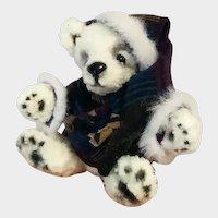 Handmade knitted little Teddy bear