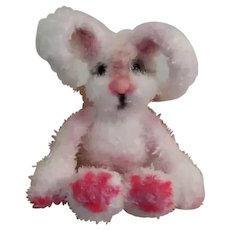 Collectible knitted miniature Bunny