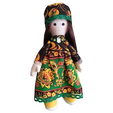 Russian textile doll for your interior. Memory of Russia