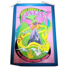 1969 Walt Disney's Fantasia Theatrical Poster