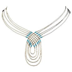 Liquid Sterling Silver Beaded Necklace