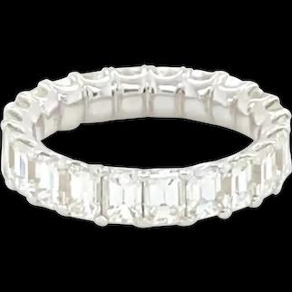 Diamond Eternity Band 5.44 Carats