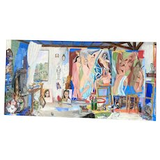 Painting of Picasso's Studio by Damian Elwes owned by Melanie Griffith