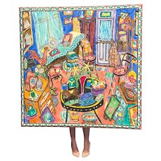 """""""Antiques"""" by Damian Elwes Mixed Media Painting Owned by Melanie Griffith"""