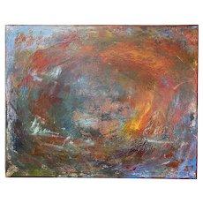 """Metamorphosis"" Acrylic on Canvas Contemporary Textured Painting by California artist Stephen Santoré"
