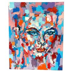 Contemporary Textured & Pixelated Portrait by UNO