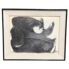 """""""La Pintora II"""" by Jose Louis Cuevas framed artwork"""