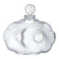 """Rene Lalique ( 1860-1945 ) """" Two Fleurs """""""