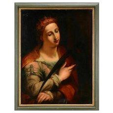 """Italian School """"Santa Cecilia"""" 19th Century Perfect Condition"""