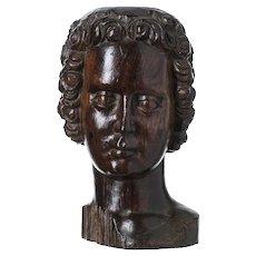 "Italian Sculpture of the 17th Century ""Head of a Saint"""
