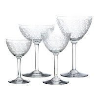 Four Baccarat Cups French, of the XX Century