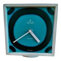 Junghans Ato-mat table clock ceramic tile dial