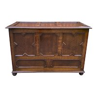 Antique English Blanket Box Chest Trunk Coffer Storage Chest Jacobean Tudor Oak