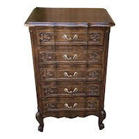 Antique French Louis XV Chest of Drawers PETITE Lingerie Jewelry Nightstand Oak