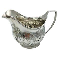 Fine Quality George III Period Solid Silver Cream Jug London 1805