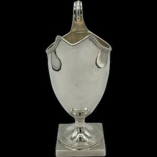 George III Silver Helmet Shaped Cream Jug Crispin Fuller London 1794 118 grams
