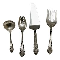 Sir Christopher Pattern 1936 Wallace Sterling Silver Flatware – (4) Assorted Serving Pieces
