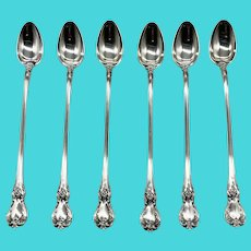 """Old Master Sterling Silver 7 3/4"""" Teaspoons by Towle (2 lots of 6 Each)"""