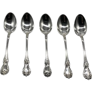 """Old Master Sterling Silver 5 7/8"""" Orange / Fruit Spoons by Towle (2 lots of 5 Each)"""