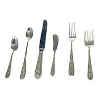 Stieff  Corsage Sterling Silver Flatware (8) Six Piece Place Settings by Kirk Stieff Company of Baltimore, Maryland