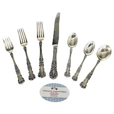 (8) Seven Piece Place Settings of Gorham Buttercup Sterling Silver Flatware No Monograms