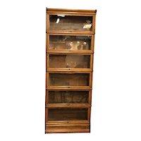 Globe Wernicke Golden Oak Six Stack Barristers Bookcase
