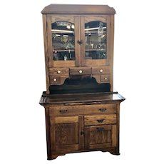 "Antique Circa 1915 ""Boone"" Oak Kitchen Cabinet Lebanon, Tennessee.  Hoosier Style Kitchen Cabinet"