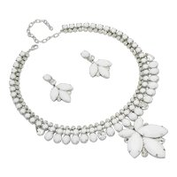 Snow Fairy Opaque White Chalk Necklace/Earring Set